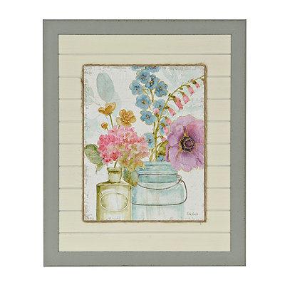 Vintage Charm Collection masor jar floral print