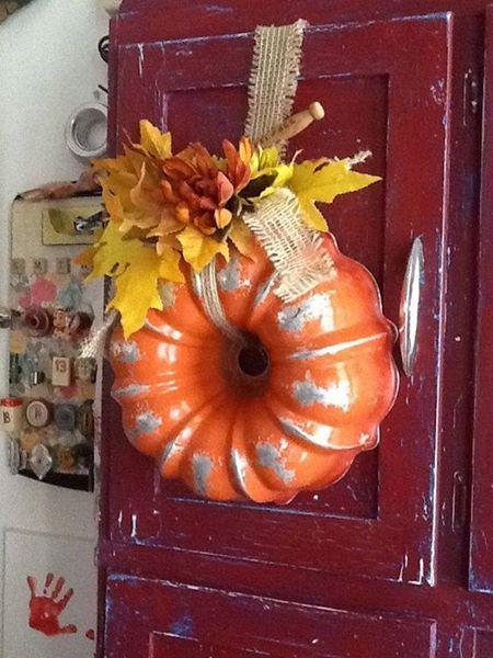 Bundt pan fall wreath Pinterst