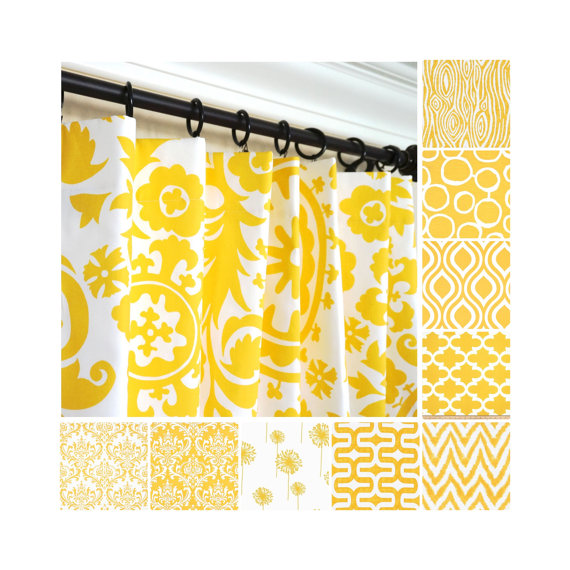 geometric-yellow-curtains