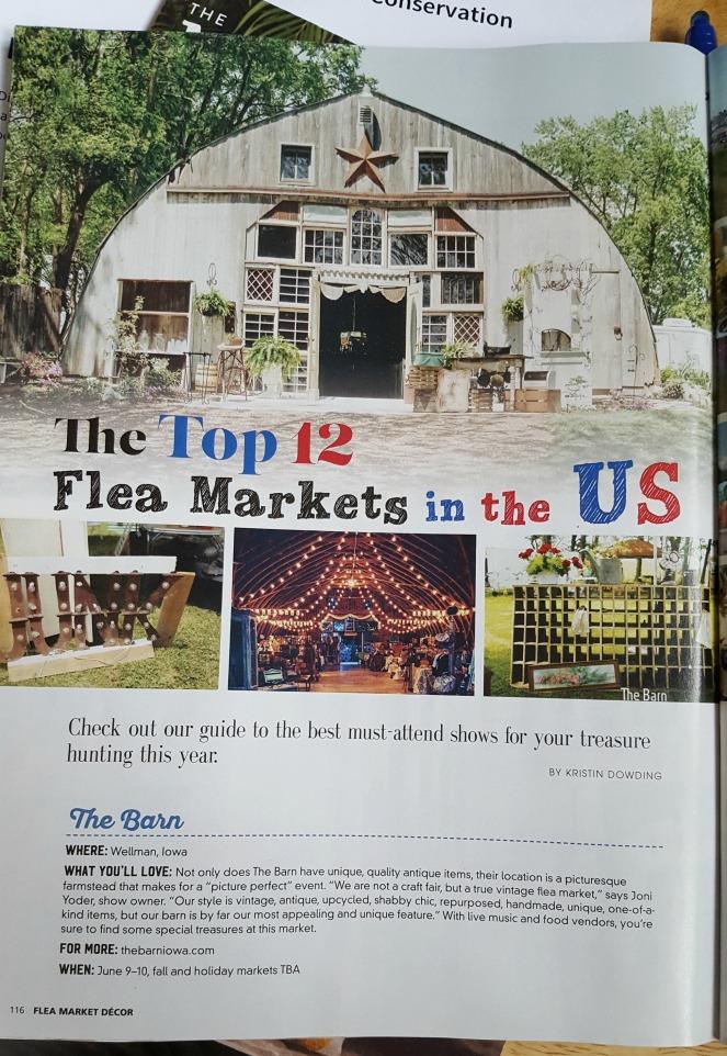The Barn Wellman IA in Flea Market Mag