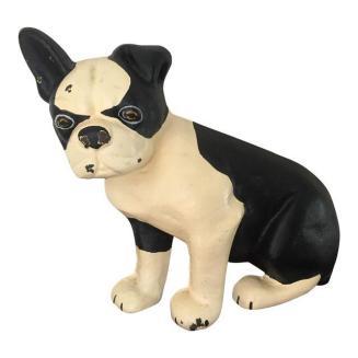 French bulldog cast iron doorstop