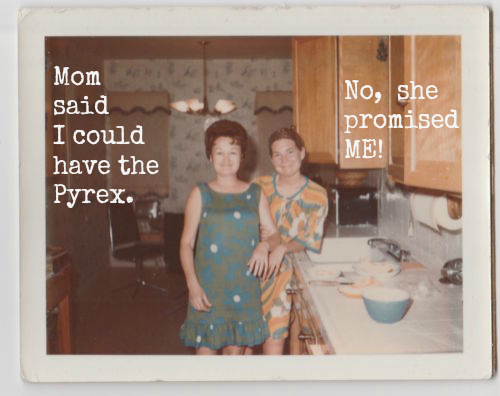 Mom said I could have the Pyrex 60s polaroid yes dear you can have my pyrex when you put me in the home