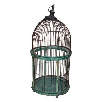vintage blue wite birdcage