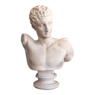 vintage Greek God Hermes bust