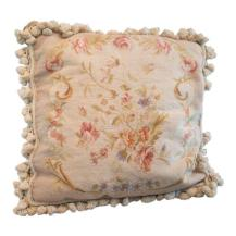 vintage hand made petti-point pillow