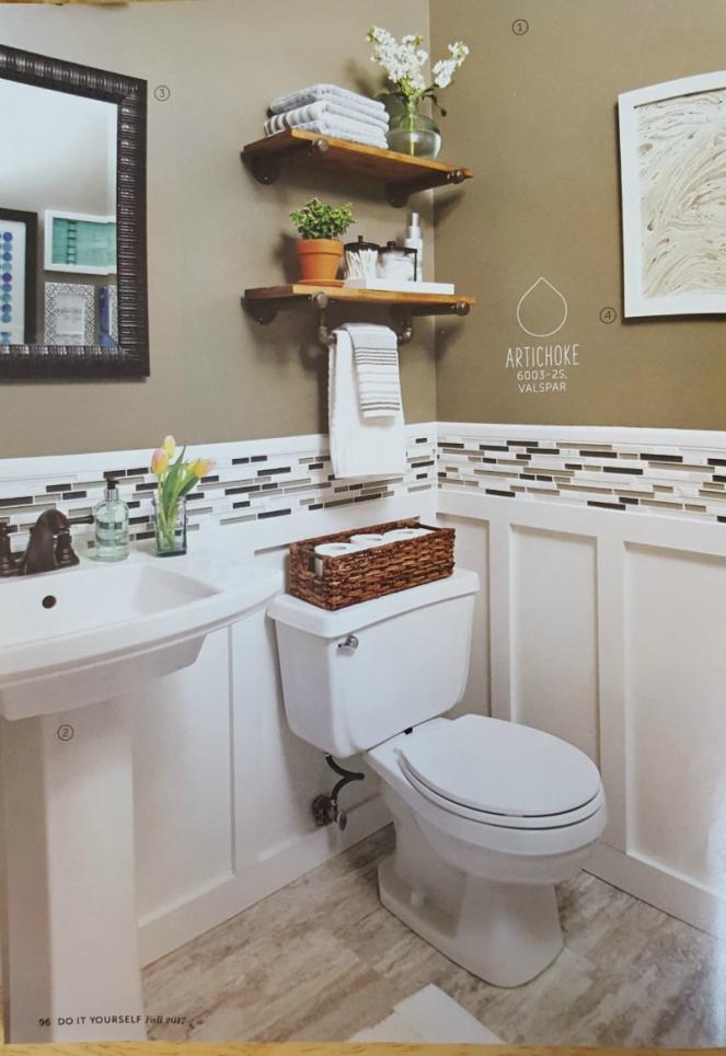DIY Fall 2017 bathroom