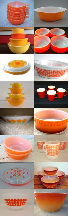 pyrex halloween orange