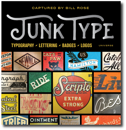junk type lettering book