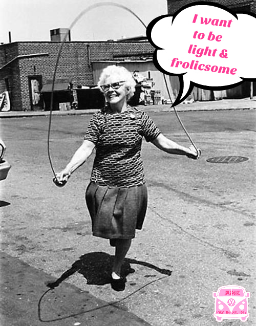 I want to be light and frolicsome jump roping vintage gma