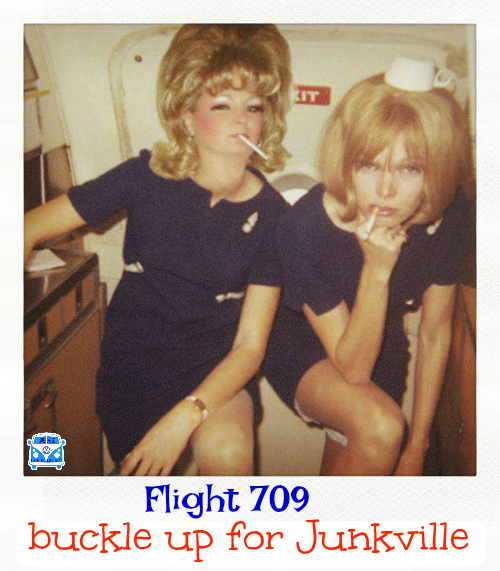 buckle up Flight 709 airline hostesses of the month