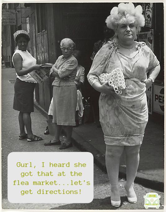 flea market funny street ladies